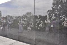 Vägg av minnesmärken för koreanskt krig från Washington District av Columbia Royaltyfria Bilder