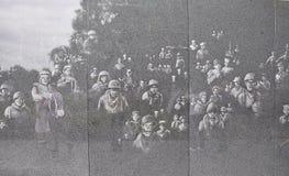 Vägg av minnesmärken för koreanskt krig från Washington District av Columbia Arkivbilder