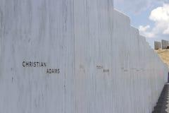 Vägg av namn, minnesmärke för flyg 93 Royaltyfri Fotografi
