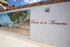 Vägg av Puerto de la Memoria i Ciudad Bolivar Arkivbilder