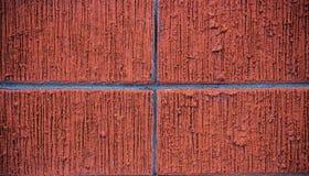 Vägg av röd tegelsten Arkivbild