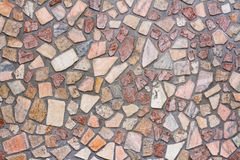 Vägg av små stenar Royaltyfri Foto