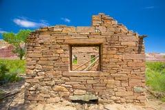 Vägg av stenhuset Arkivbilder