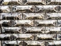 Vägg av tegelstenar Arkivfoto