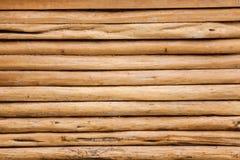 Vägg av timmer som är trä Royaltyfria Foton