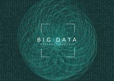 vägg av träslats Teknologi för stora data, konstgjord intelligens, djupt att lära och kvantberäkning vektor illustrationer