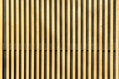 Vägg av tunna träslats Lodlinjeparallellplattor royaltyfria bilder