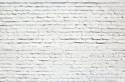 Vägg av vita tegelstenar Fotografering för Bildbyråer