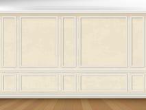 Vägg dekorerade panelstöpningar i klassisk stil Arkivbilder