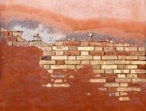 vägg för 4 tegelsten arkivbild