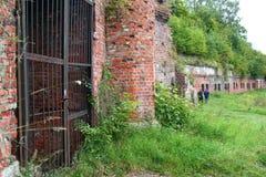 vägg för 5 fort Arkivbild