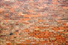 vägg för 5 tegelsten Royaltyfri Foto