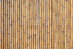 vägg för bakgrundsbambubruk Arkivfoto