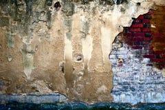 vägg för bakgrundsderilicttextur Arkivbild