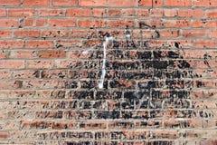 vägg för bakgrundstegelstengrunge royaltyfria bilder