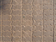 vägg för bakgrundstegelstengrunge Arkivfoto