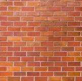 vägg för bakgrundstegelstenhorisontalröd skjuten textur Royaltyfria Foton