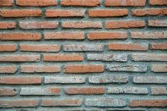 vägg för bakgrundstegelstenhorisontalröd skjuten textur Royaltyfria Bilder
