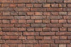 vägg för bakgrundstegelstenhorisontalröd skjuten textur Abstrakt textur för formgivare Arkivfoto