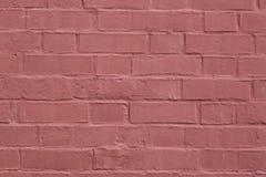 vägg för bakgrundstegelstenhorisontalröd skjuten textur Abstrakt textur för formgivare Arkivbild