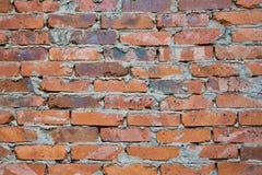 vägg för bakgrundstegelstenhorisontalröd skjuten textur Abstrakt textur för formgivare Royaltyfri Foto