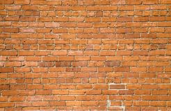 vägg för bakgrundstegelstenorange Arkivfoton