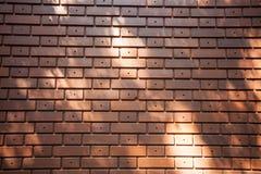 vägg för bakgrundstegelstenred Royaltyfri Foto