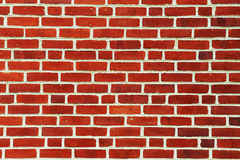 vägg för bakgrundstegelstenred Royaltyfri Bild