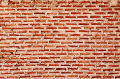 vägg för bakgrundstegelstentextur Gammal tappningtegelstenvägg fotografering för bildbyråer