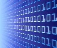 vägg för binär kod Arkivbild