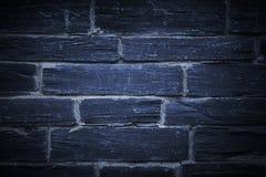 Vägg för blå sten Royaltyfria Bilder