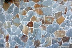 Vägg för blå sten Royaltyfri Bild