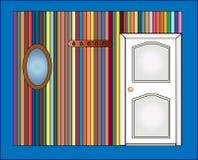 vägg för dörrspegel royaltyfri illustrationer