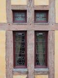 Vägg för fönstertimmerram Royaltyfria Foton