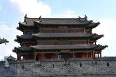 Vägg för forntida stad, Datong stad, Kina royaltyfri bild