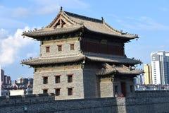 Vägg för forntida stad, Datong stad, Kina fotografering för bildbyråer