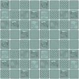 Vägg för Glass kvarter, sömlös textur av fönsterenheter visualization 3d Royaltyfri Fotografi
