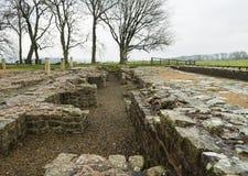 Vägg för Hadrian ` s på Birdoswald, England fotografering för bildbyråer