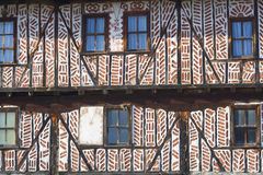vägg för hustexturby Arkivbild