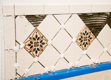vägg för keramisk tegelplatta Fotografering för Bildbyråer
