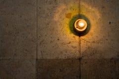 vägg för kulalampa Arkivfoton