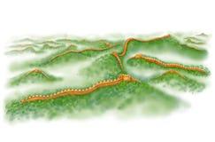 vägg för landmark för beijing porslin stor Royaltyfri Fotografi