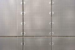 vägg för metallskärmark royaltyfri bild