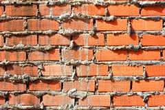 Vägg för röd tegelsten, apelsin Royaltyfri Fotografi