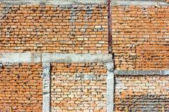 Vägg för röd tegelsten, apelsin Royaltyfria Bilder