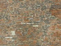 Vägg för röd tegelsten (bakgrund) Royaltyfria Bilder