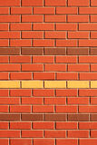 vägg för rader för tegelstenfunktion röd Royaltyfri Bild