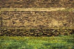 vägg för rastre för bakgrundstegelstenbild Fotografering för Bildbyråer