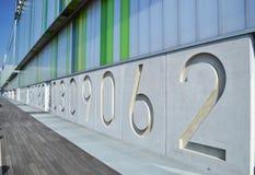 vägg för serie för byggnadsnummer Royaltyfria Foton