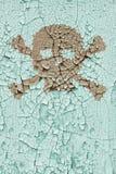 vägg för skalle för benkors gammal Royaltyfri Foto